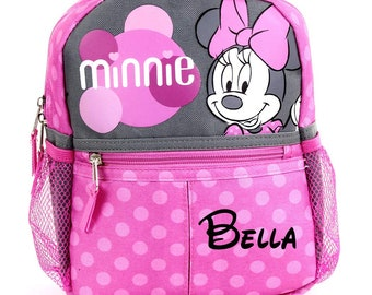Personalized Disney Minnie Mouse 10 Inch Mini Backpack with Harness