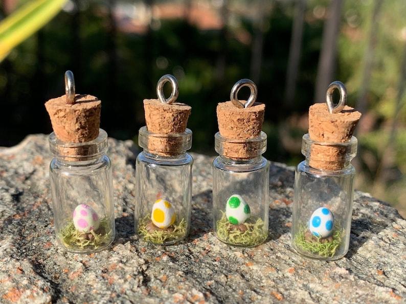 Nintendo inspired Yoshi Nest jar necklace Polymer image 0