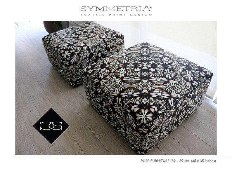 Maximalist Upholstery Celtic Flower Black Yellow Fabric Distinctive D\u00e9cor Animal Print Inspired Pillows Chair Custom Printed Silk Velvet