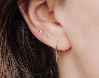 Tiny silver stud earrings \u2022 Handmade \u2022 Cute little earrings \u2022 Studs \u2022 Unique \u2022 Gift \u2022 Diameter 4.5 mm