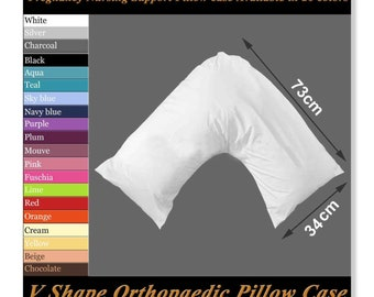 V SHAPED PILLOW CASE COVER PREGNANCY