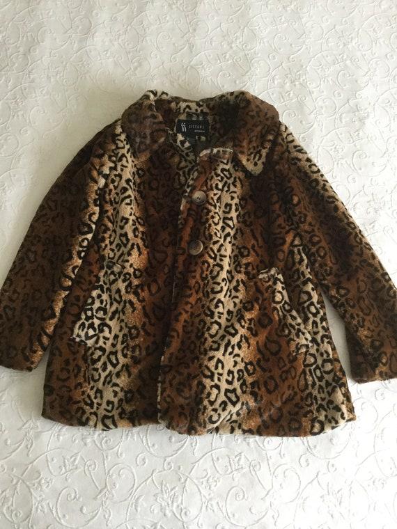 Leopard Fake Fur Soft Women's Winter Coat Jacket