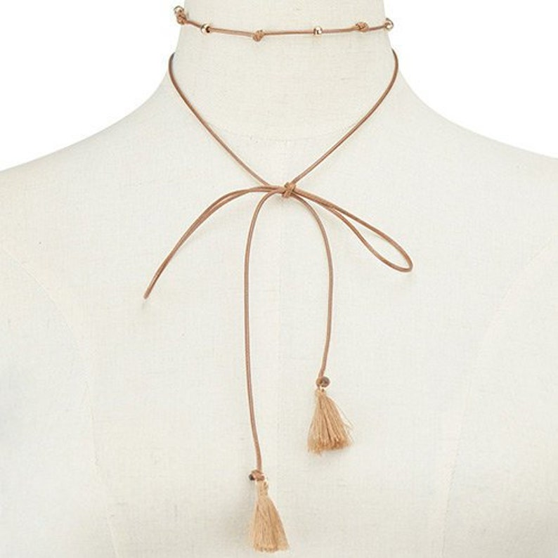 My Girl Tassel Necklace long necklace brown necklace choker pendant tassel necklace