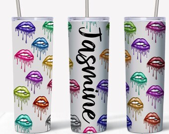 Valentine/'s Day Lips Tumbler Water Bottle With Stainless Steel Skinny Vampire Fang Travel Mug Cold Hot Drinks 20 Oz
