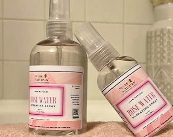 Rose Water Hydrating Spray | Natural Toner | Facial Mist for Dry Skin | Safe For All Skin Types