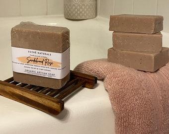 Sandalwood Rose Handmade Soap| Made with Organic Shea Butter | 5oz
