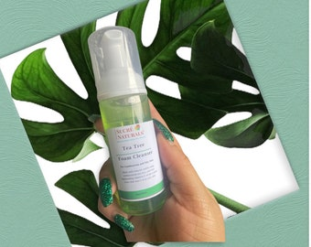 Tea Tree Acne Foam Cleanser| For Oily and Combination Skin| Foaming Face Wash | Heals Acne and Breakouts