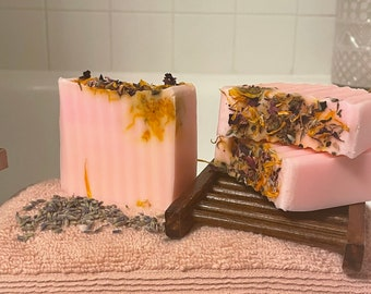 Rose Yoni Cleansing Bar | Natural Soap 4.5oz | Fragrance Free| Vaginal Health, pH Balance