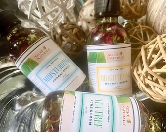 Natural Facial Serums - For All Skin Types - Fade Acne, Blemishes, Fine Lines | Hydrate & Repair Skin