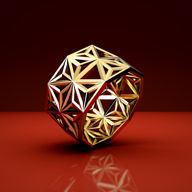 ARRAY RING 18K gold  / Casting / 3D printed Accessories / image 0