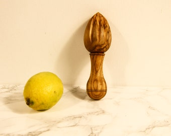 and Orange Handmade Reamer Juicer Squeezer - 6 inches in length 6 x 0.6 x 0.2 AramediA Olive Wood Citrus Lemon Lime