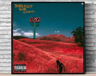fc715e390084 Travis Scott Ft Future 2 Chainz 3500 Music Album Cover Poster Print on  Canvas Wall Art Home Decor(No Frame)