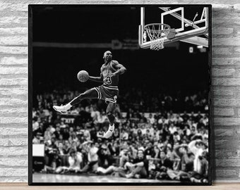 7a6bef3f125 Michael jordan dunk contest Canvas Fabric Poster And Print Wall Art Picture  Painting Home Decor(No Frame)