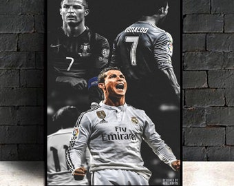cb2d89c2848 Cristiano Ronaldo Poster Canvas Real Madrid Super Star Soccer Footballl  King CR7 Posters and Prints for Living Room Home Decor(No Frame)