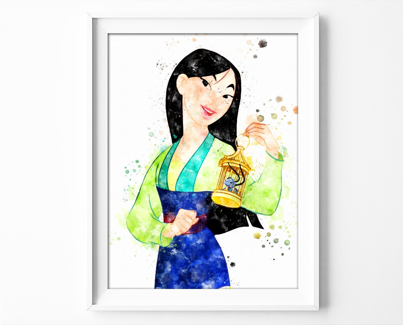 Walt Disney pictures Mulan drawing from Mulan with his Knight Khan poster art Digital watercolor effects sheet