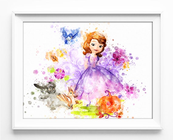 Nursery Art Sofia the First Instant Download Printable Digital Art Print Princess Sofia the First Nursery Poster Baby Birthday Party no.508