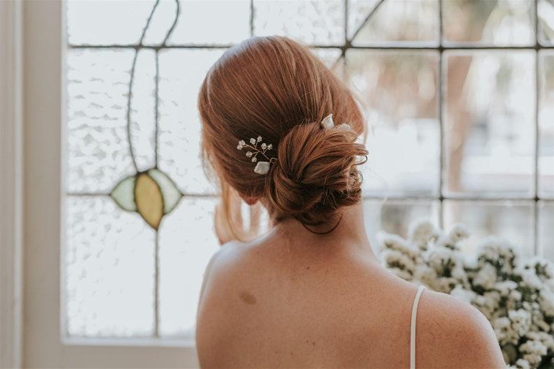 Pearl hair pin hair pin bridal accessory bridal hair pin image 0