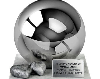 Always in my Heart Doble Heart Stainless Steel Cremation Urn For Ashes One-of-a-kind premium Cremation Urn