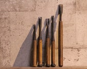 Carving chisels Nomi set of 5 Japanese antiques signed Please read my profile before buying.