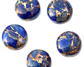Grade A Loose Gemstones,Cabochon Gemstone,Semi Precious Gemstones-Gemstone Cabochon-Lapis-Round Shape 14mm-SKU:308102-LAP-14