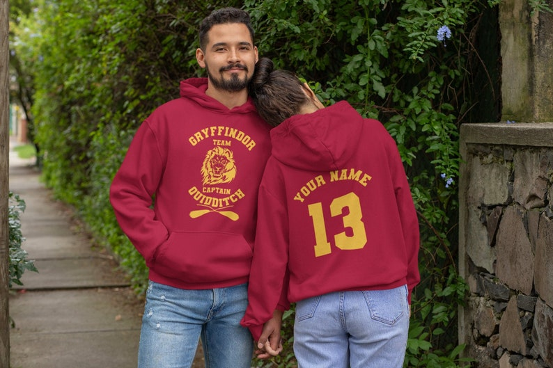 Gryffindor Quidditch Inspired Hoodie All Sizes /& Colours S-2XL Gift Harry Potter