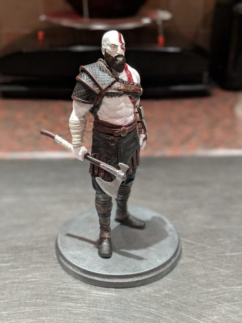 God Of War Kratos Statue GOW 3D printed Hand Painted Kratos 6 Model