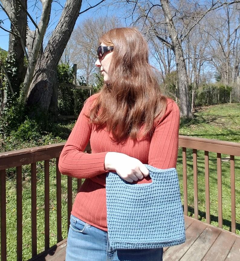 Beach Bag Spring Accessory Small Crochet Cotton Tote Bag Summer Accessory