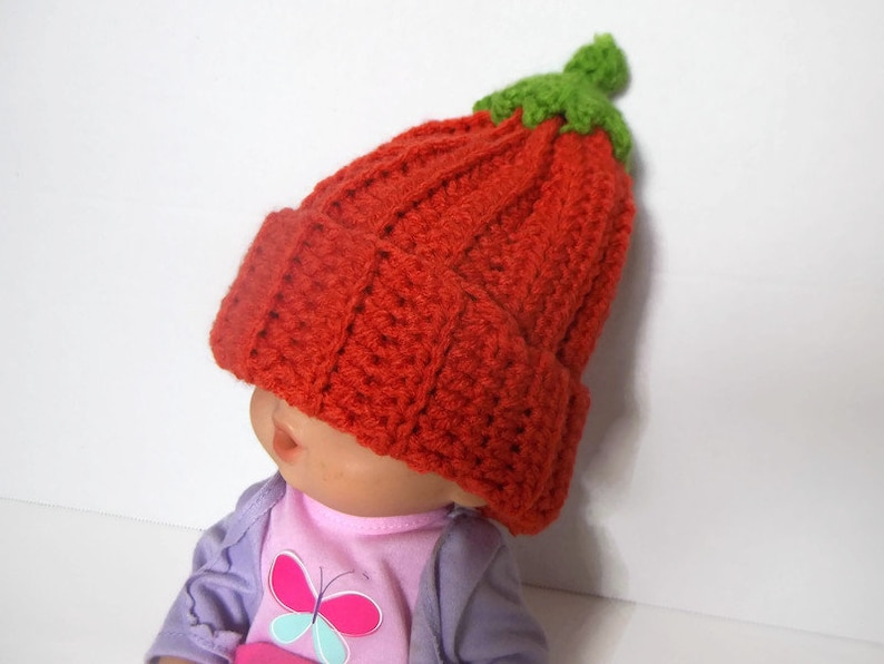 Crochet Baby Pumpkin Beanie image 4