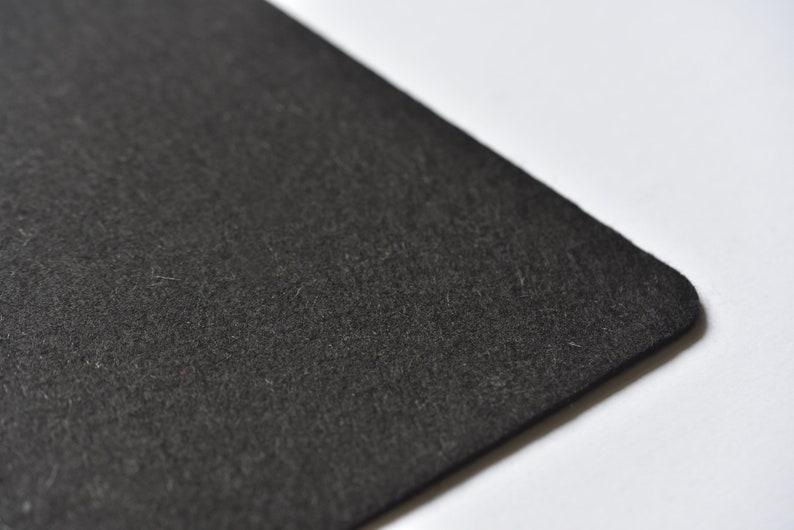 Black Desk Pad  Laptop Mat  Desk Mat  Office Decor  Computer Accessories  Wool Felt Mat