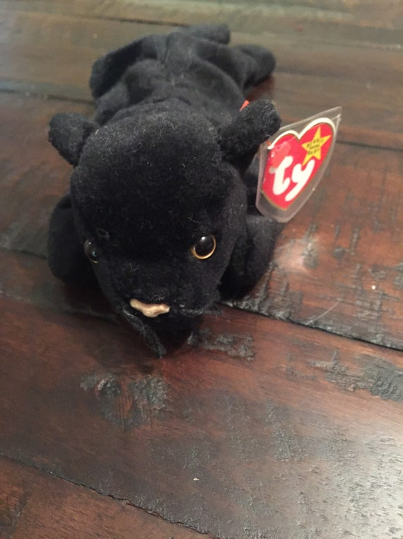 MINT with MINT TAGS TY VELVET the PANTHER BEANIE BABY