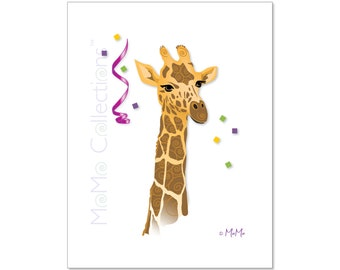 Printable Birthday Card (Giraffe): Digital Download Card, Original Colorful Designs, Catchy Verses, For Her, For Him, For Friend, For Family
