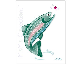 Printable Birthday Card (Best Fishes): Digital Download Card, Original Colorful Designs, Catchy Verses, For Her, Him, Friend & Family