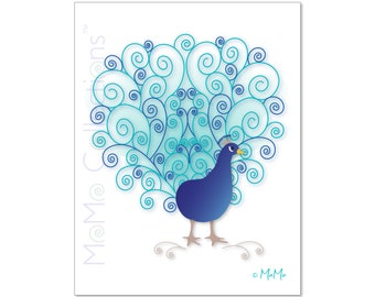 Printable Birthday Card (Peacock): Digital Download Card, Original Colorful Designs, Catchy Verses, For Her, For Him, For Friend or Family