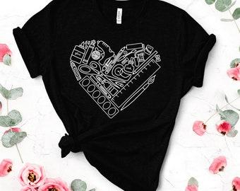 heART Supply Shirt (WhiteGraphic), Art Teacher Shirt, Art Supply Shirt, Art Supply Heart, Craft Supply Shirt, Teacher Shirt, Art Shirt, Cute
