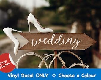 Wedding Signs, Rustic Wedding Decor, Outdoor Directional Wedding Arrows, Wedding Sign Decals, Wedding Signage, Parking Arrow Canada