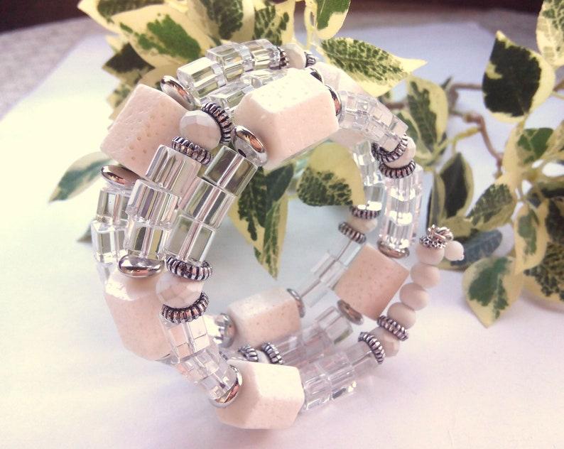 White Jewelry Ocean Bracelet Sea Bracelet Coral Bracelet Cuff  Adjustable Crystal Bracelet White Coral Bracelet White Coral Jewelry