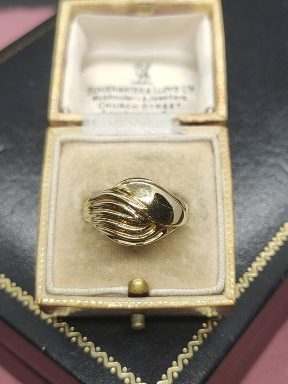 size U Amazing Vintage Statement Decorative Heavy Sterling Silver Large Sized Wedding Band  Band Ring