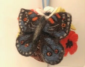 Butterfly Flowers Needle Felted Hanging Decoration Gift Animal