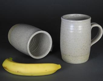Large Mugs, Pair, Handmade Pottery  set#216