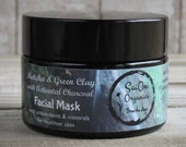 Matcha Green Clay Powder Mask with Activated Charcoal