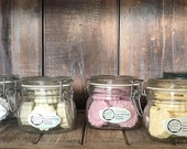 Colorful Fizzy Epsom Bath Soaks with Organic Essential Oils