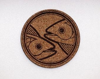 Zodiac Sign Scorpio Thin Cork Coaster Set of 4