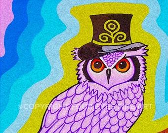 62e8c37d2 Owl top hat | Etsy