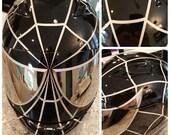 Custom Painted Spiderman Motorcycle Helmet Airbrushed
