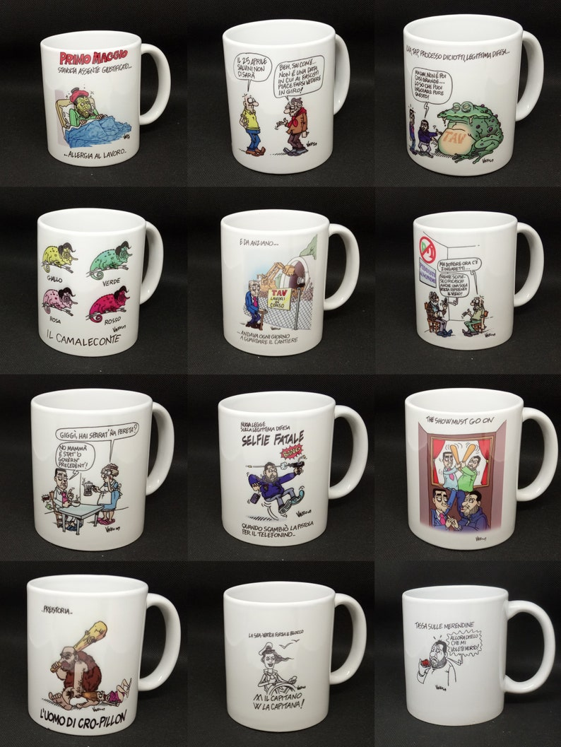 6 Cups in Color  The Vignettes of Vauro  Mug image 0