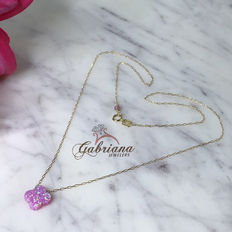 Opal pendant  Pink Opal  Opal Necklace  Delicate Chain  Delicate Necklace  Dainty Necklace  Layering  18k yellow gold  #PG133