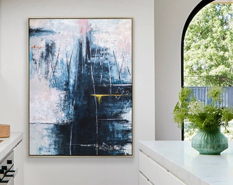 Abstract Painting Original Large Acrylic Canvas Wall Art, Expressionism Modern Painting Wall Art on Canvas - If you go to the mountain