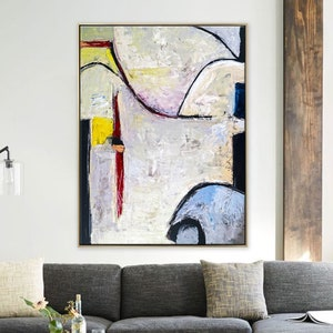 Expressionism Modern Painting 11\u00d714 Stretched Canvas Mixed Media Acrylic Wall Art Isthmus Original Abstract Painting
