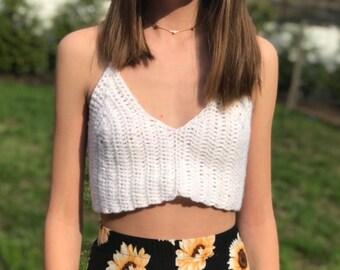 63ca4ca56b6 Crochet Cropped Halter Top