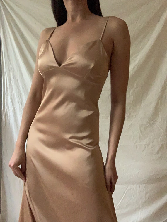 Champagne Maxi Slip Dress